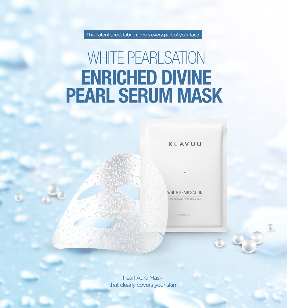 Korean Pearl Extract and seaweed extract all in one bottle of serum on PTC sheet is a two function sheet mask for whitening and improving your wrinkles. Patented sheet fabric covers all angles of your face and turns your skin to a silky and shiny texture, just like that of a pearl!   5 x 27g per Box (or 1 x 27g per single sheet)  Made in Korea Directions:  After cleansing and toning, remove pearl sheet from mask and apply to face. Leave on for 20 to 30 minutes. Gently massage any remaining essence into skin. No need to rinse off. Continue with rest of skincare routine. Ingredients:  Water, Butylene Glycol, Propanediol, Niacinamide, 12-Hexanediol, Cetyl Ethylhexanoate, Glycerin, Sodium Hyaluronate, Citrus Paradisi (Grapefruit) Fruit Extract, Pearl Extract(100ppm), Laminaria Japonica Extract, Sargassum Fulvellum Extract, Salicornia Herbacea Extract, Gelidivum Cartilaginous Extract, Beta-Glucan, Adenosine, Disodium EDTA, Raffinose, Allantoin, PEG/PPG-17/6 Copolymer, Sodium Polyacrylate, Hydrogenated Polyisobutene, Dimethicone, Cyclopentasiloxane, Cyclohexasiloxane, Butyropermum Parkii (Shea) Butter, Glyceryl Stearate, PEG-100 Stearate, Sorbitan Sesquioleate, Polysorbate 60, Pentylene Glycol, Triethanolamine, Caprylyl Glycol, Ethylhexylglycerin, Phenoxyethanol, Fragrance