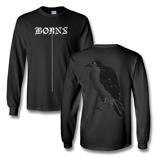 Crow Long Sleeve T-Shirt - Black