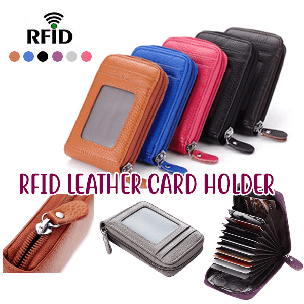 RFID Leather Card Holder - ZUNARIS