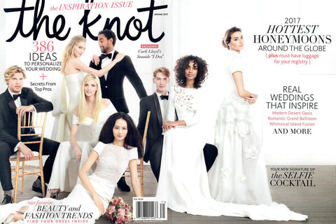 MARK ZUNINO BRIDAL FEATURED ON THE COVER OF THE KNOT