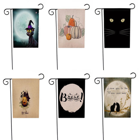 Garden Flag  12x18 inch  Halloween Weatherproof Decoration-GKandaa.net