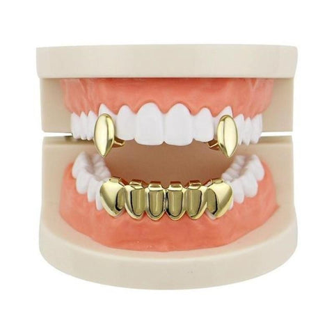 Vampire Gold Grills Healthy Teeth-GKandaa.net