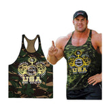 Singlets Camouflage Tank Tops Shirt Bodybuilding Equipment Fitness Men's Golds Gym Stringer WAIBO BEAR - GKandAa - 2