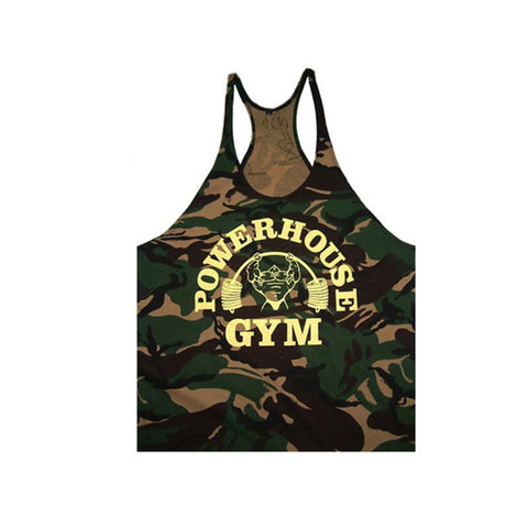 Singlets Camouflage Tank Tops Shirt Bodybuilding Equipment Fitness Men's Golds Gym Stringer WAIBO BEAR - GKandAa - 8