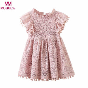 Baby Girls Floral Print Lace  princess dresses