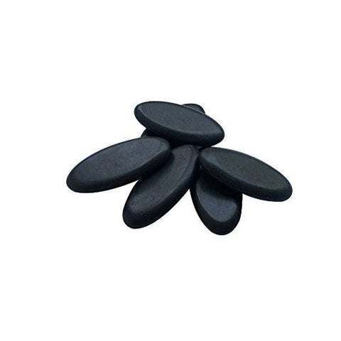 6pcs/lot Massage Hot Stones Massage Lava Natural Stone Set Spa Rock ( 1 x 2 in )