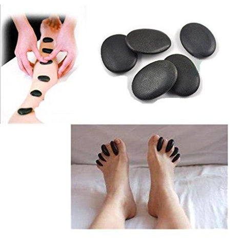7pcs /lot Massage Hot Stones Massage Lava Natural Stone Set Hot Spa Rock Basalt Stone