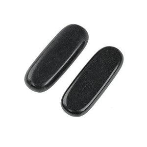 2Pcs Stripe Professional Massage Hot Stone Set Natural Lava Heated Warmer Rock for Spa