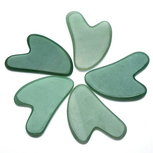 2pc/set Natural Rose Quartz/Green Aventurine Gua Sha Guasha Scraping Massage Tool-GKandaa.net