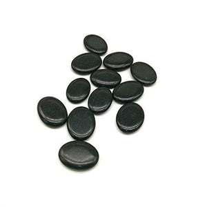 12Pcs Small Hot Massage Stones Set Natural Lava Basalt Heated warmer Stone