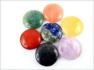 7 Round Stone Set Palm Worry Stone Thumb Stone Crystal Therapy Geometry