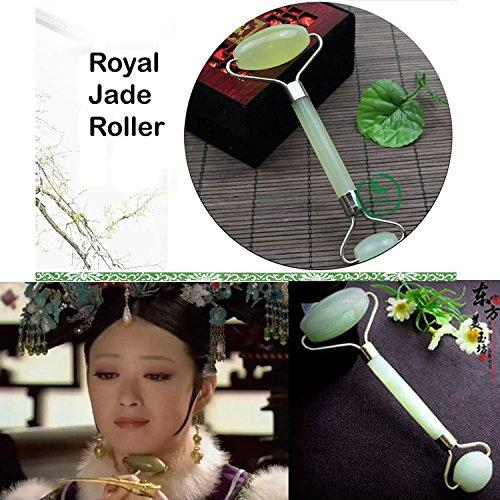 2 Natural Jade Roller Facial Massager SPA Face Massage Anti Aging Cold Therapy-GKandaa.net