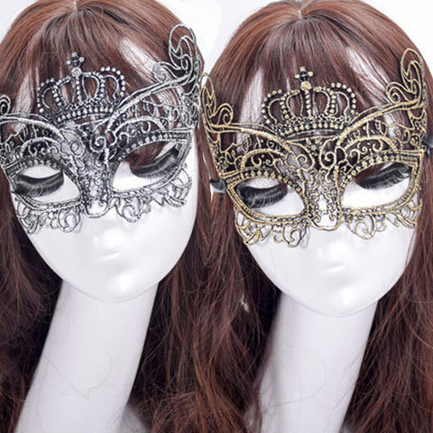 Metal Masquerade Masks Elegant Metal Laser Cut Luxury Mask Black-GKandaa.net