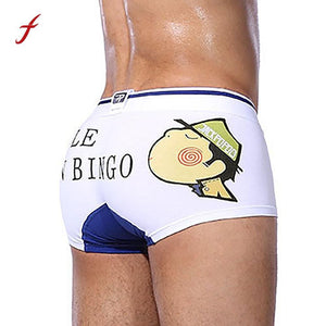 Men Elastic Cotton Underwear   Funny Boxer Briefs-GKandaa.net