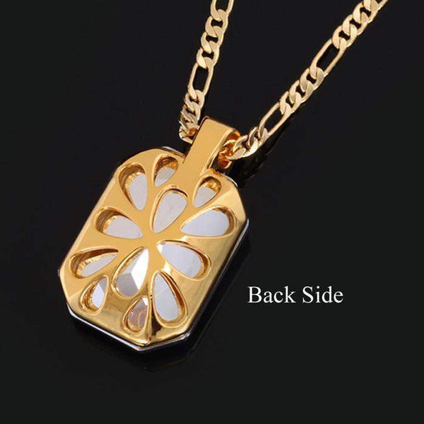Pendants 18K Real Gold Plated Gift Blue stone Crystal-GKandaa.net