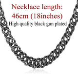 "Gold Chain Necklace Classic Men Jewelry With ""18K"" Stamp 6 MM 3 Sizes - GKandAa - 8"