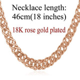 "Gold Chain Necklace Classic Men Jewelry With ""18K"" Stamp 6 MM 3 Sizes - GKandAa - 16"