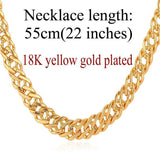 "Gold Chain Necklace Classic Men Jewelry With ""18K"" Stamp 6 MM 3 Sizes - GKandAa - 12"