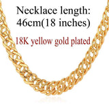 "Gold Chain Necklace Classic Men Jewelry With ""18K"" Stamp 6 MM 3 Sizes - GKandAa - 13"