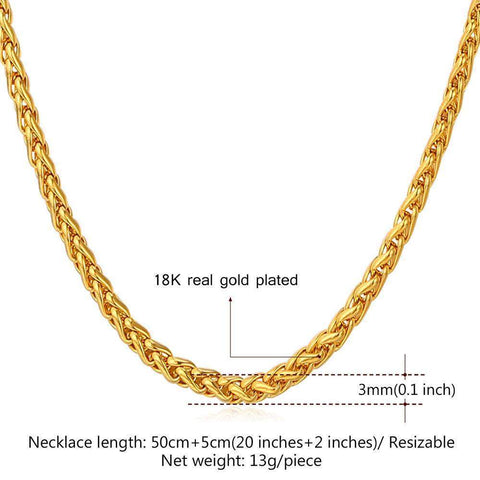 Necklaces 18K Real Gold /Platinum Plated-GKandaa.net
