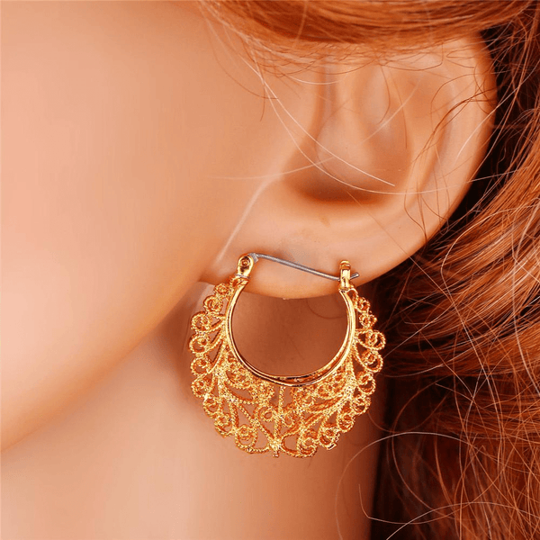 Fashion Women Earrings vintage earring Platinum/18K Real Gold Plated-GKandaa.net
