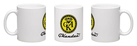 Classic White Ceramic Coffee Mug 11oz.-GKandaa.net
