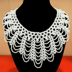 Vintage Beaded Collar 35cm fashion pendants jewelry Lace-GKandaa.net
