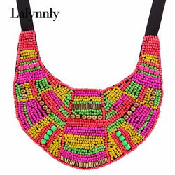3 Colors Fashion Jewelry For Women Vintage Bohemian Statement Necklace Accessories Multicolor Beads Collar Necklaces N36271 - GKandAa - 1