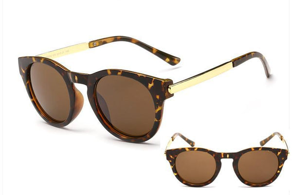 Women's Sunglasses Metal Luxury retro round-GKandaa.net