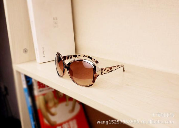 Women's Sunglasses 3 color Trendy Metal retro Frame Leopard-GKandaa.net