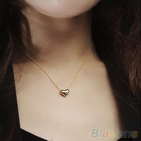 Jewelry Gold Plated Heart Bib Pendant-GKandaa.net