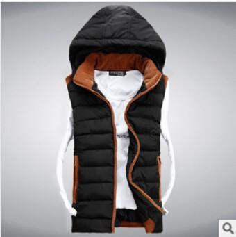 Men's Hoodies hooded Slim Vest-GKandaa.net
