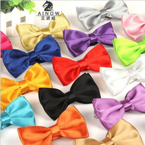 Men's Bow Ties Solid color Butterfly Casual-GKandaa.net