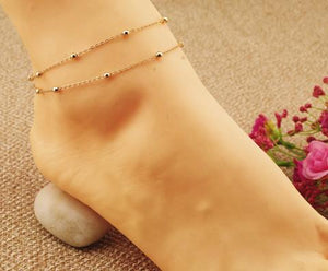 Anklets for Women Chain Double Bracelets For Ankle-GKandaa.net