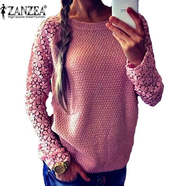 Women's Pullovers Spring Sleeve 5 Color sweater-GKandaa.net