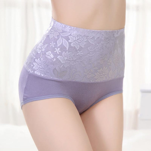 Women's Panties 8 Color Lace Tummy Briefs-GKandaa.net