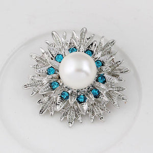 Brooches Attractive Big Simulated Pearl Plated-GKandaa.net