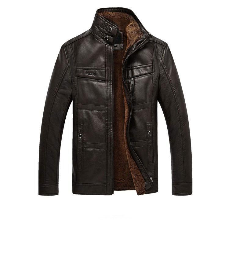 Men's Leather Jackets Shipping The Quinquagenarian PU over with 148-GKandaa.net