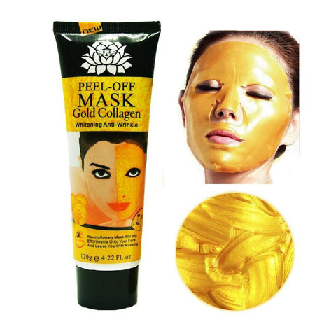 Face Care 120ml 24K golde mask Anti wrinkle Anti Aging facial mask-GKandaa.net