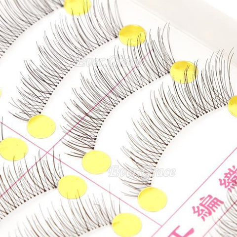 Eyelash Tools 10 Pairs Natural False Soft Eyelash-GKandaa.net