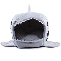 Pet Products 2 Size Soft House Shark l Cat Bed Cat House - GKandaa.net