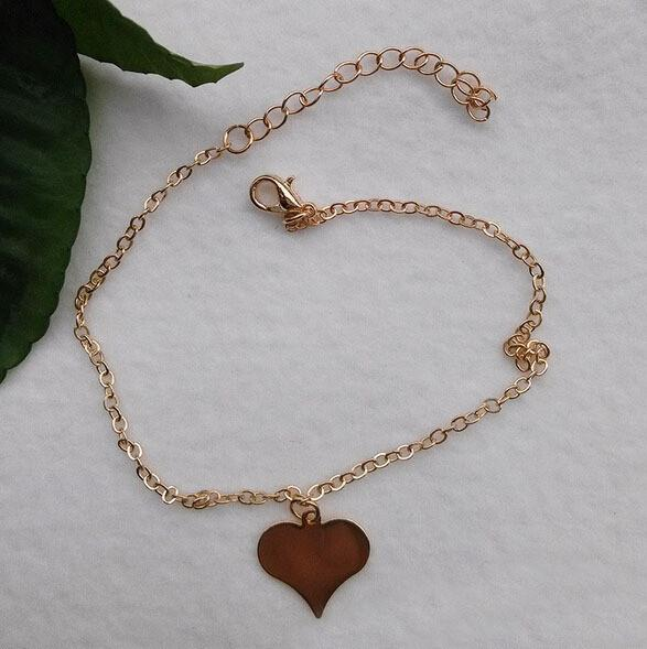 Women's Anklets Beautiful Heart Gold Plated For Ankle-GKandaa.net