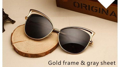 oculos de sol ladies.fashion Retro vintage cat eye sunglasses mirror female. luxury brand designer sun glasses for women - GKandAa - 6