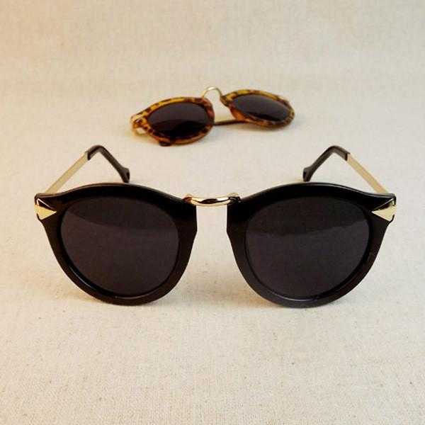 Women's Sunglasses Metal Frame Round-GKandaa.net
