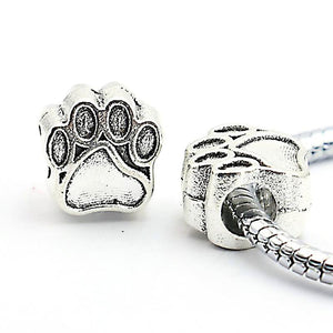 Charm Bracelets Beads Antique Silver Plated Bear Paw Pendants-GKandaa.net