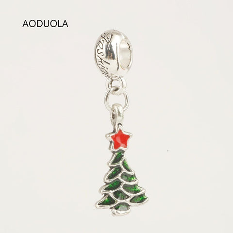Charm Bracelets Beads 10 Pcs a Lot Christmas Collection Pendants TreeGKandaa.net