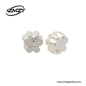 Charm Bracelets Beads Top Quality 10pcs/lot White Enamel Luxury-GKandaa.net