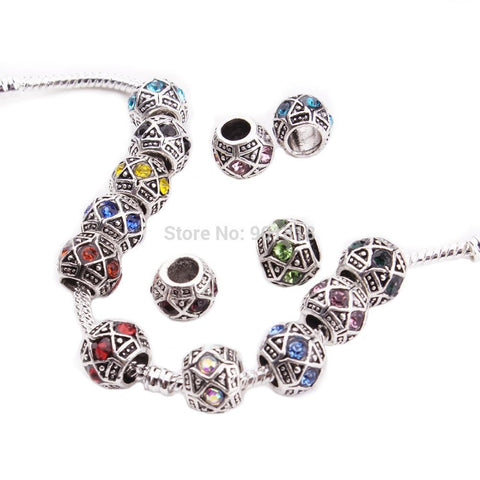 Charm Bracelets Beads 10pcs/lot Tibetan Silver Necklaces &Pendants-GKandaa.net