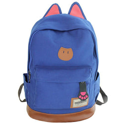 Backpacks, Rucksacks New Campus Women Girls Backpack Travel Bag Young Canvas Men Backpack Brand Fashion School Sports Bags Cat Ears Bags - GKandAa - 1