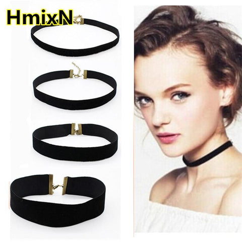 Choker Necklace Outfits  Rope layer Fashion 1cm velvet False round-GKandaa.net